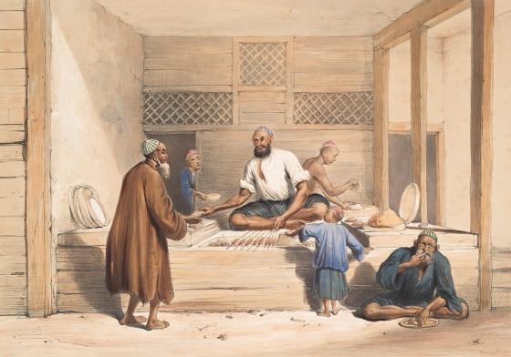 Cabaub shop, Cabul - 1843