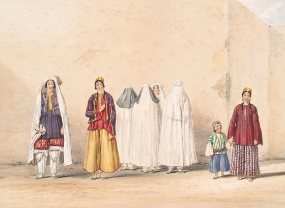Kabul - Affghan and Kuzzilbash ladies - 1843